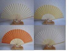 Fächer Handfächer Stofffächer aus Bambus und Stoff Taschenfächer  Neu