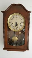 Vintage German Decor Wall Clock with Westminster Chime!