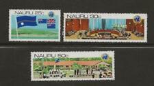 New listing Nauru 1980 Mnh United Nations Decolonization Anniversary - Scott 221-223 - wb53e