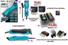 Wahl KM10 ULTIMATE DUTY CLIPPER&10,30 Blade&Stainless Steel Attachment COMB SET