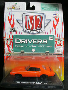 M2 Machines Drivers 1969 Pontiac GTO Judge r-01 1/64