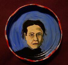 SIMONE DE BEAUVOIR Jam Jar Lid Portrait, New Orleans Outsider Folk Art PETER ORR
