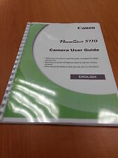 Canon PowerShot S110 complet manuel guide instructions imprimées 343 pages A5