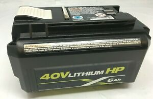 Ryobi Op40602 40v 6ah Hp Lithium Ion High Capacity Batteries GR