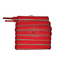 Mr Lacy Slimmies - Red & Grey Oval Shoelaces - 130cm Length 8mm Width