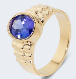 Harry Ivens IV Ring Gelbgold 585 Tansanit AAAA+ 1,85 ct.