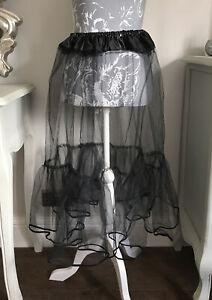 Black Underskirt 50s Swing Vintage Petticoat Fancy Net Skirt Rockabilly