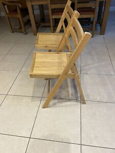 Wooden Folding Chairs (Two)