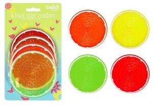 Fruit Slice Coasters Hot Cold Drinks Party Summer BBQ Patio Garden Table Indoors