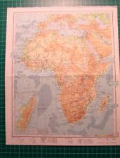 Africa - Old map 1975 karte Afrika landkaart kaart