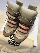 Isabel Marant Bekket Red High-top Suede Tony's Wila Wedge Sneakers 40/10