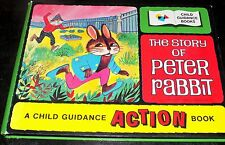 Vintage The Story Of Peter Rabbit Action Book Japan Moving Figures - Hardcover