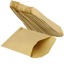 100 pcs Kraft Paper Cookie Candy Package Gift Bags Cellophane Party Bi CKD