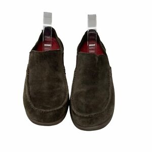Crocs Santa Cruz Mens Size 9 Brown Slip On Suede Walking Casual Loafers Shoes