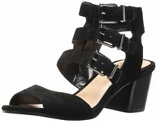 e79fa9ec3a63ba Vince Camuto Women s Geriann Side Zip Open Toe Dress Sandals Black Verona