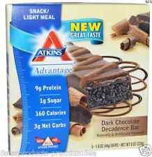 NEW ATKINS ADVANTAGE DARK CHOCOLATE DECADENCE BAR HEALTHY SNACK GROCERIE FOOD