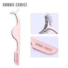 BONNIE CHOICE Rose Gold False Eyelash Tweezer Extension Remover Clip Makeup Tool