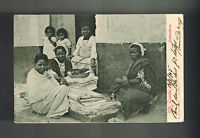 1905 Angola Real Picture Postcard Cover to Portugal African WOmen Vendors