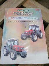 Gli operatori TYM manuale per trattori T500 T550