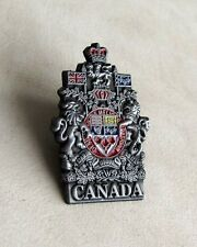 Canada Canadian Coat of Arms Color Antic Tin Lapel Pin NEW