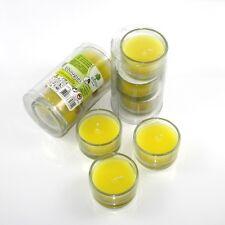 9 bougies parfumées à la citronnelle anti-moustiques dans des bougeoirs en verre