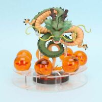 Dragon Ball Z Action Figures Shenron & 7 Crystal Balls Set Anime Toy Display