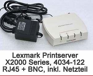 Printer Server Lexmark 4034-122 X2012e With RJ-45 RJ45 + BNC Gewährleist