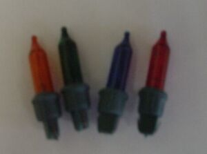 4 Multi Coloured Push In Spare Bulbs 3v 0.3w with one prong (SB177)