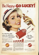 POST CARD WITH AN ADVERTISEMENT FROM A MAGAZINE LUCKY STRIKE CIGARETTES   LSMFT