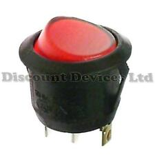 Illuminated Round Rocker Switch 6A 250V 1Circuit Off-On