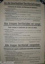 Territorialtruppen CH Army Schweizer Militär Plakat Armee Original 3 Sprachen!