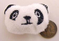 1:12 Scale White & Black Panda Bear Face Cushion Tumdee Dolls House Miniature