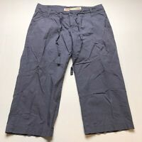 Mossimo Size 7 Blue Low Rise Crop Capri Pants A703