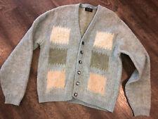 Vintage CITATION CLUB Puritan GRANDPA Cardigan SWEATER Grunge Wool Mohair M USA