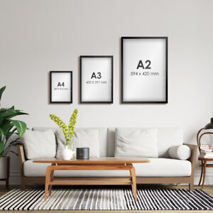 Poster picture display frame A4 A3 A2 A1 black wall smart modern office