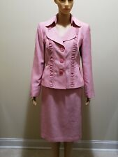 Womens Two Piece Dress Suit by Le Suit in Pink US Size 8  Pre Owned