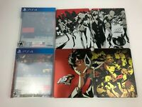 Persona 5 Steelbook Launch Edition & Persona 5 Royal Steelbook ONLY NO GAME PS4