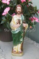 "Lovely!  12"" ST. JUDE STATUE Plaster / Chalkware ** ITALY ** ~ NEW!"