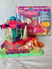 Vtg 1996 Kenner Littlest Pet Shop Dazzling Fancy Curls Carousel Merry-Go-Round