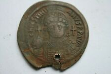 ANCIENT LARGE BYZANTINE JUSTINIAN FOLLIS 6th CENTURY AD