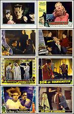 FRANKENSTEIN BORIS KARLOFF BELA LUGOSI Lot Of 8 Individual 11x14 LC Prints
