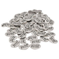 50PCS Handmade With Love Metal Labels Tags For DIY Sewing Accessories