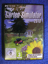 PC CD ROM GIOCO GIARDINO-Simulator (PC, 2010, DVD-BOX) coltivare abbellire GIARDINO