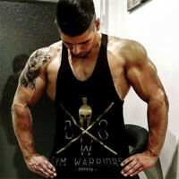 Gym Warriors Tank Top Fitness Workout Men's Training Sleeveless Stringer Shirt