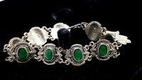 Vintage Egyptian Emerald enamel bracelet.