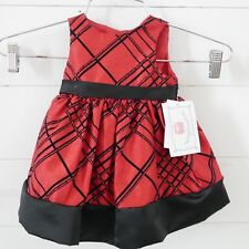 Baby Girl Special Occasion Sz 3/6 Months Red Sparkle Dress Marmellata NEW Black