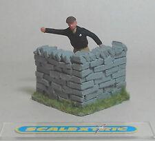 Vintage 1.32 esquina 'seco' muro de piedra perfecta para Scalextric Airfix Ninco SCX +