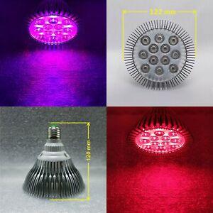 12W Dimmable PAR38 UV Purple Blue Red LED Lamp Light Bulb Plant Aquarium E26 E27