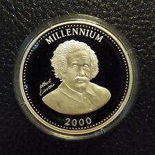 Uganda 1000 schillings 2000 EINSTEIN PROOF silver 92.5% (19.95 g)