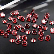 1mm Garnet Cubic Zirconia Round Cut Loose Gemstone AAA lot of 1000 PCS stones